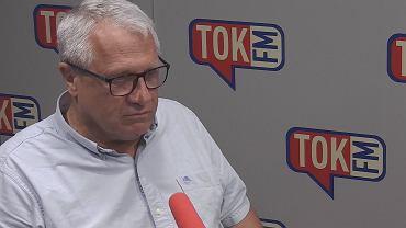 Prof. Wiesław Władyka w studiu TOK FM.