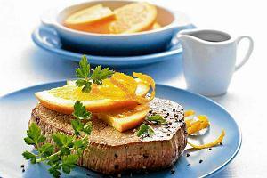 Stek w sosie pomarańczowym