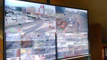 Obraz z kamer rozmieszczonych na terenie miasta