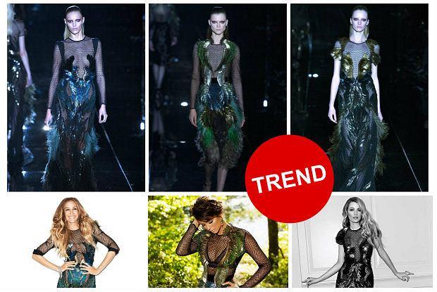139142415d85e Suknia z kolorowymi piórami marki Gucci - zostanie kreacją roku? Wszystko  na to wskazuje! [ZDJĘCIA]