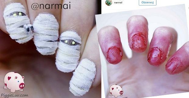 Obrzydliwe, brzydkie, straszne. Te paznokcie idealnie pasują do Halloween
