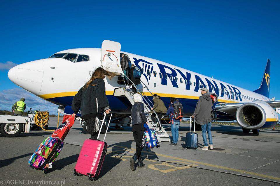 Samolot linii 'Ryanair'