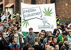 Marsz Wyzwolenia Konopi - manifestacja zwolennik�w legalizacji marihuany we Wroc�awiu w 2014 r.