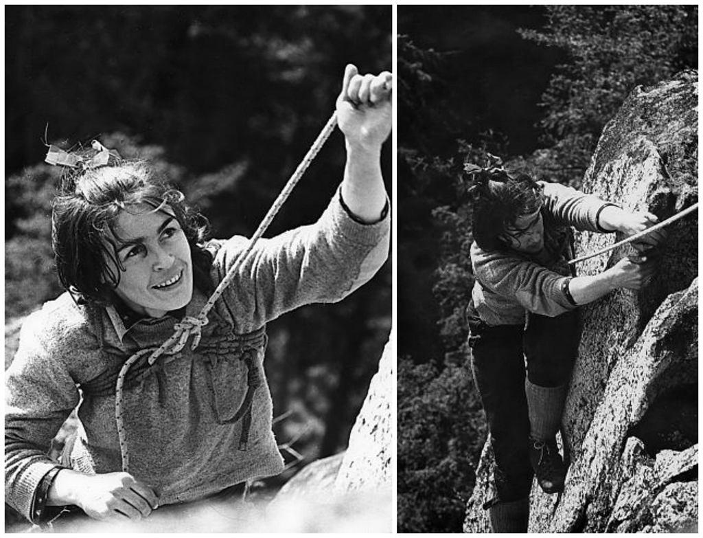 Wspinaczka na Krzywej Turni, lata sześćdziesiąte XX w. (fot. Seweryn Bidziński)