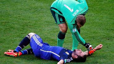 Zderzenie Manuela Neuera z Gonzalo Higuainem