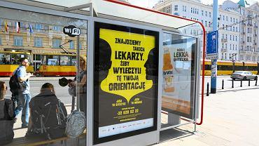 17.05.2017 Warszawa . Plakaty informujące o akcji 'Jeśli to słyszysz' - przeciwko homofobicznej przemocy .