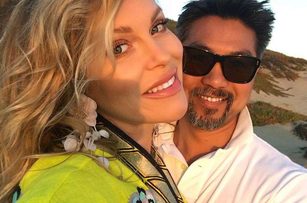 Kinga Korta z mężem