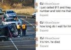 Relacjonowa�a wypadek samochodowy na Twitterze. Nie wiedzia�a, �e zgin�� w nim jej m��