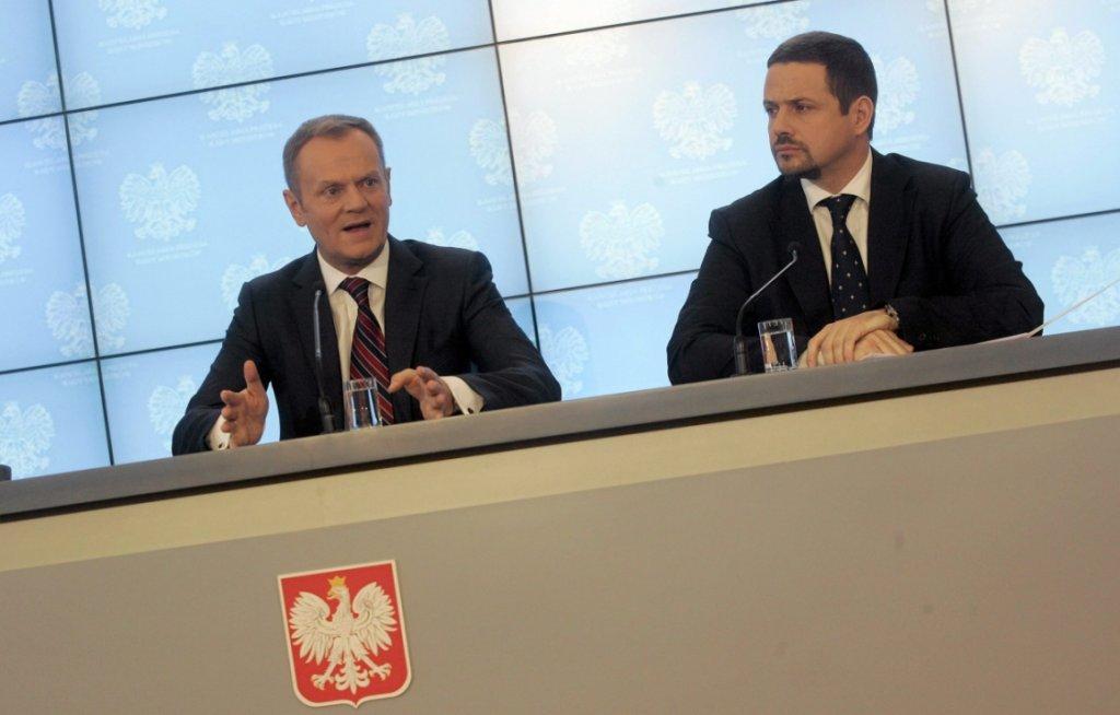 Donald Tusk i Rafał Trzaskowski (fot. Przemek Wierzchowski/AG)
