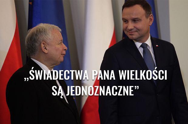 Jaros�aw Kaczy�ski i Andrzej Duda w Pa�acu Prezydenckim