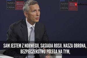 Stoltenberg: NATO nie prowokuje konflikt�w, tylko im zapobiega