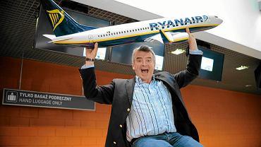 Szef taniej linii Ryanair Michael O'Leary aktywnie, własną osobą promuje ofertę swojej firmy