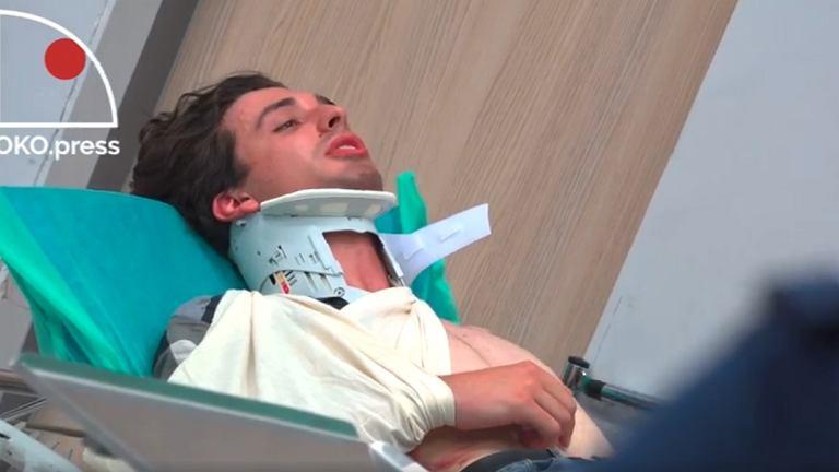 Po protestach przed Sejmem Dawid Winiarski trafił do szpitala