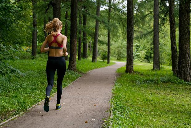 Najlepsze miejsca na bieganie w upale to osłonięte od słońca alejki parkowe lub las