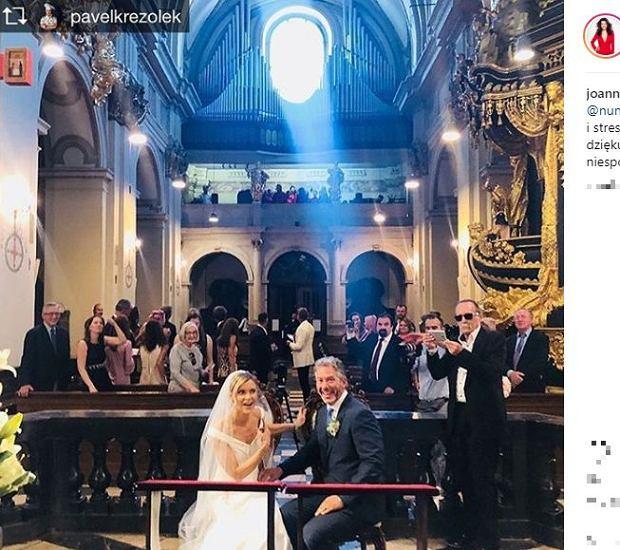 Joanna Jabłczyńska na ślubie Joanny Krupy
