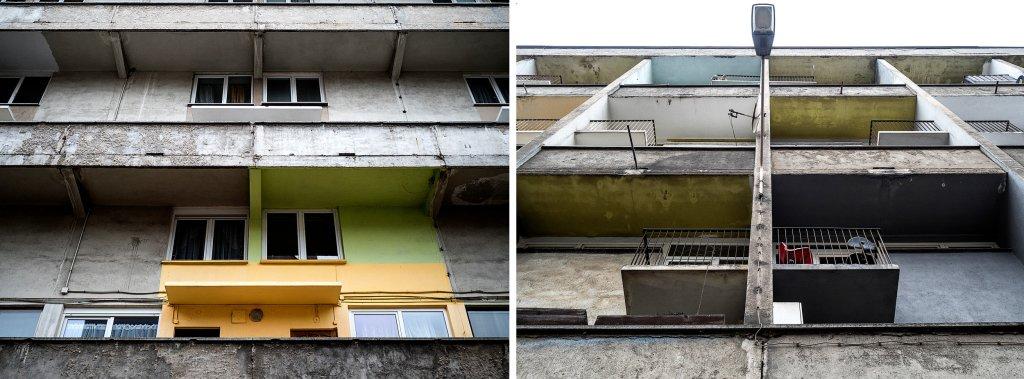 Dziś budynek odpycha więc kakofonią kolorów, faktur i kształtów (fot. Filip Springer)