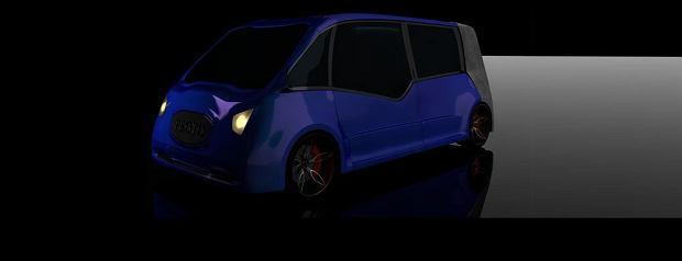Praca zgłoszona na konkurs na karoserię polskiego samochodu elektrycznego