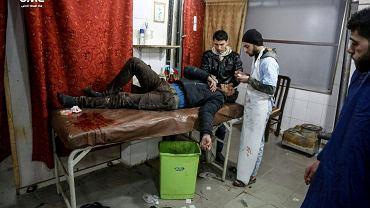 Mężczyzna ranny w bombardowaniach z 20 stycznia we Wschodniej Ghoucie