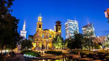 Warszawa, plac Grzybowski, Kościół Wszystkich Świętych.
