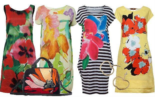 Sukienki w kwiaty  w letniej kolekcji Solar