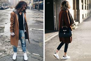 Bluza sportowa + elegancki płaszcz. Jak modnie wystylizować ten duet?