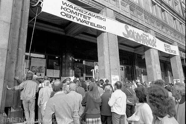 4 czerwca 1989 r. Warszawa, sztab wyborczy