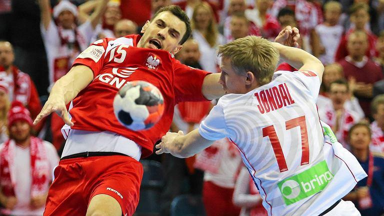 Michał Jurecki podczas meczu Polska - Norwegia