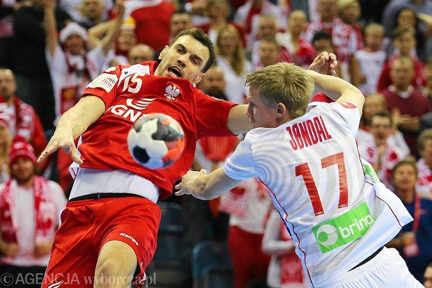 Micha� Jurecki podczas meczu Polska - Norwegia