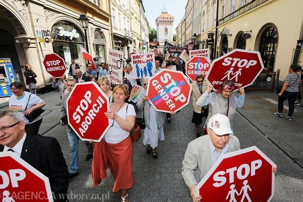 Protest przeciwnik�w aborcji