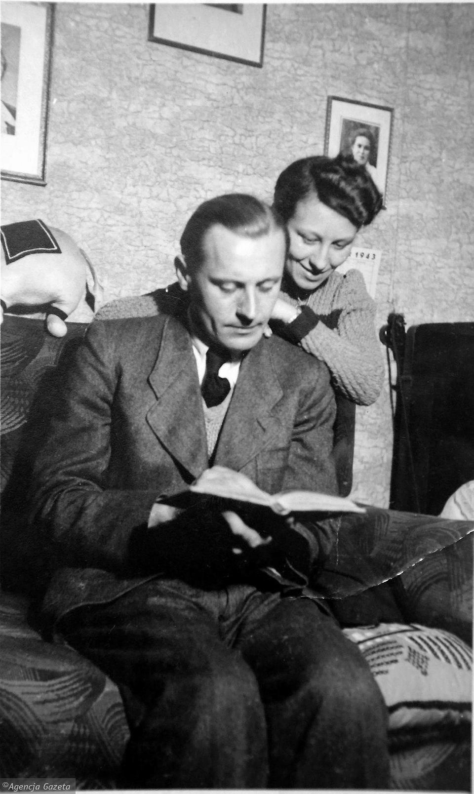 Teodor Dziabas z żoną Zofią