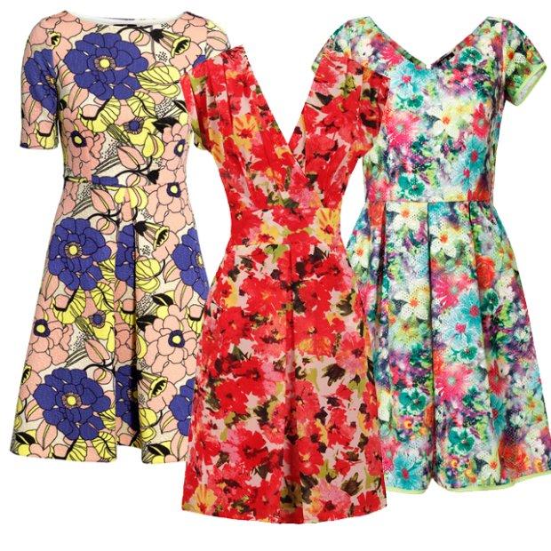 88f94b5cfb Sukienki w kwiaty z wiosenno - letnich kolekcji - zdjęcie nr 1