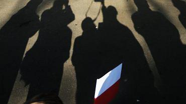 W mieście - jak prawie w całej Polsce - kwitnie kult 'żołnierzy wyklętych'...