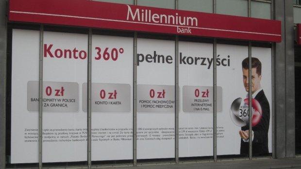 Bank Millennium zarabia mniej, ale szybko pozyskuje klientów