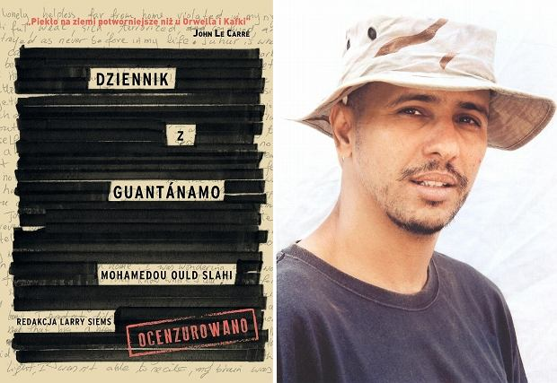 Okładka książki i jej autor - Mohammedou Ould Salahi
