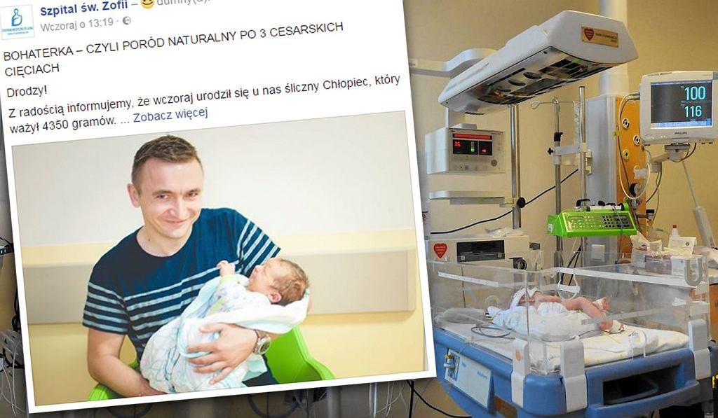 W warszawskim szpitalu Św. Zofii kobieta urodziła siłami natury po trzech cesarskich cięciach. To prawdopodobnie pierwszy taki poród w Polsce