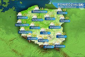 W poniedziałek pochmurno i burzowo. Temperatura od 18 do 22 stopni