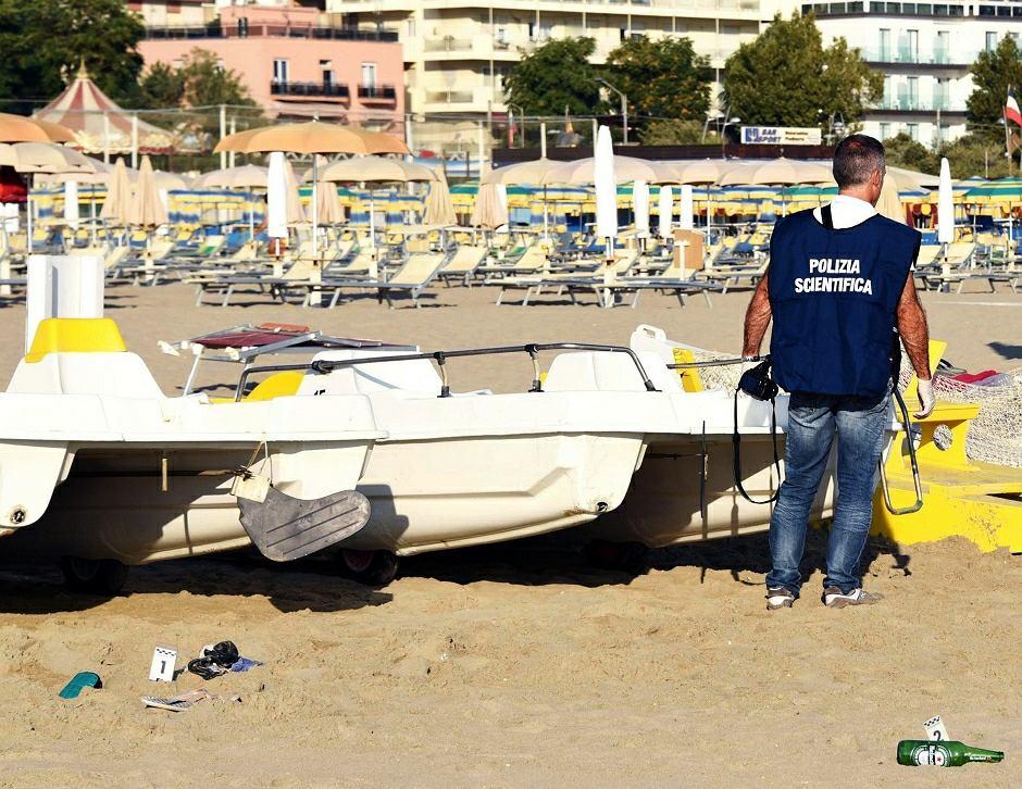 Plaża w Rimini, gdzie 4 mężczyzn napadło i zgwałciło Polkę