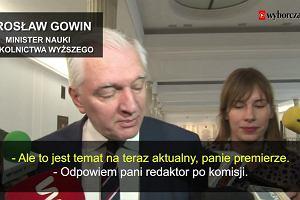 """""""Proszę o odrobinę cierpliwości i wzajemnego szacunku"""". Jarosław Gowin ucieka przed pytaniami o taśmy Kaczyńskiego"""