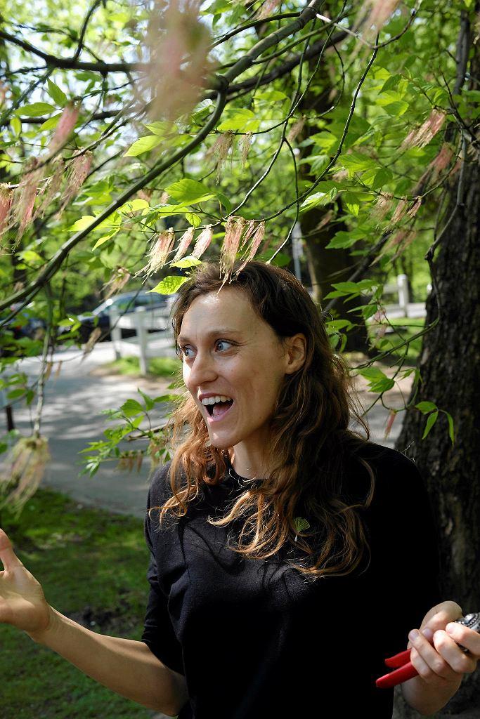 Warsztaty Obserwacje terenowe Kwiaty i owoce drzew w ramach programu społecznego ogród miejski Jazdów Prowadzenie Krystyna Jędrzejewska - Szmek / BARTOSZ GÓRKA