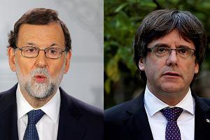 Premier Hiszpanii Mariano Rajoy (z lewej) i premier Katalonii Carles Puigdemont.