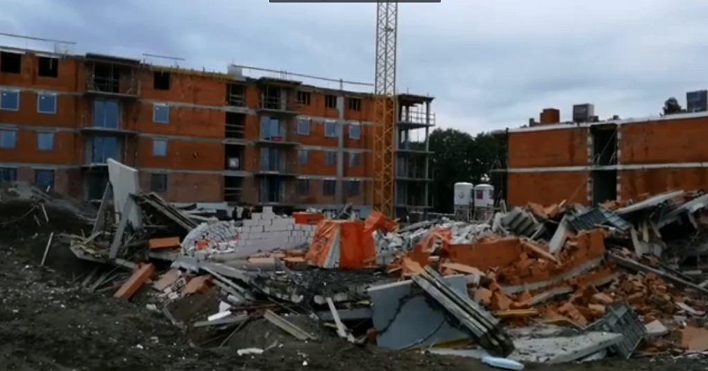 Bielsko-Biała. Zawalił się budynek