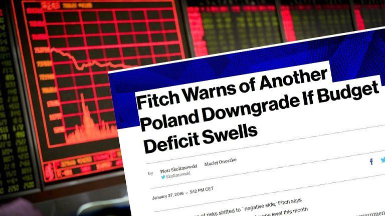 gencja Fitch ostrzega, że może obniżyć Polsce ocenę kredytową