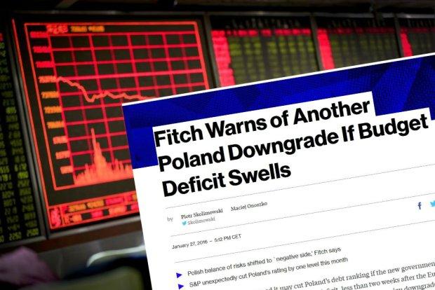 gencja Fitch ostrzega, �e mo�e obni�y� Polsce ocen� kredytow�