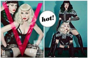 Madonna i Katy Perry razem w sesji w stylistyce sado-maso. Dobry pomys�? [ZDJ�CIA]