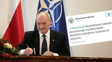 """Komisja Macierewicza w 31 godzin (!) ustali�a przyczyn� katastrofy smole�skiej? """"MON usun�� tweeta"""""""