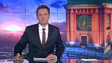 Krzysztof Ziemiec prowadzący wiadomości