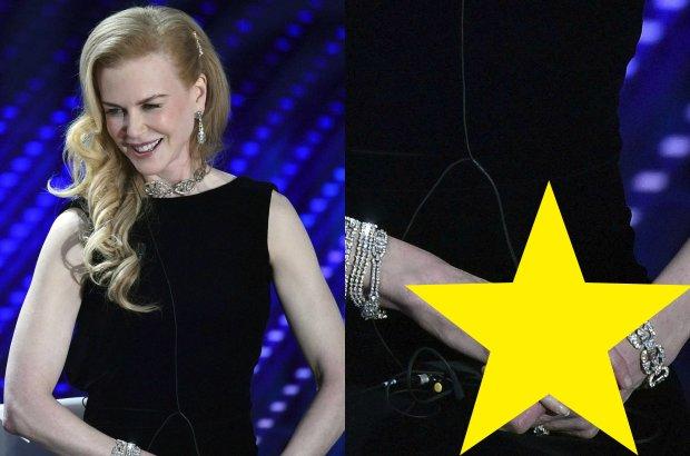 Nicole Kidman go�ci�a na Festiwalu Muzycznym Sanremo we W�oszech, a uwaga medi�w zn�w skupi�a si� na jej g�adkim licu. Nuda - pomy�licie pewnie. A jednak tym razem aktorka mia�a CA�KIEM NOW� TWARZ. Jeden z serwis�w por�wna� te� jej cer� z d�o�mi.