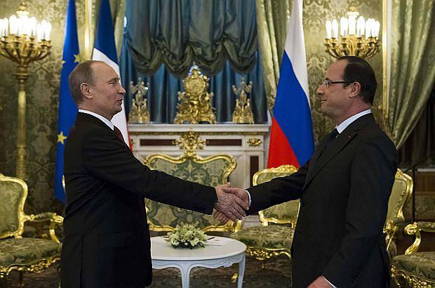 Francois Hollande i W�adimir Putin