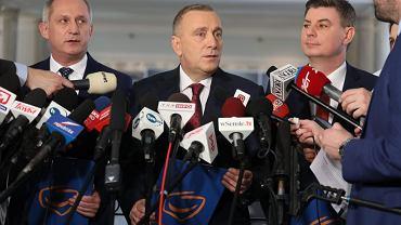 Konferencja Grzegorza Schetyny w sejmie, 10 maja 2017.