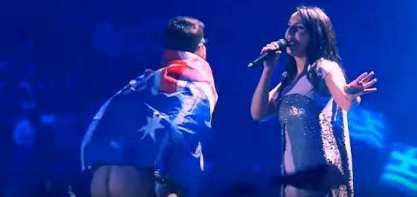 Występ Jamalii i fana podczas Eurowizji 2017